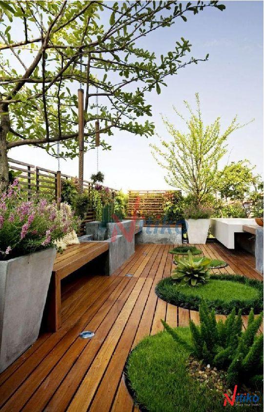 lắp đặt vườn mái, vườn sân thượng với vỉ thoát nước Necty