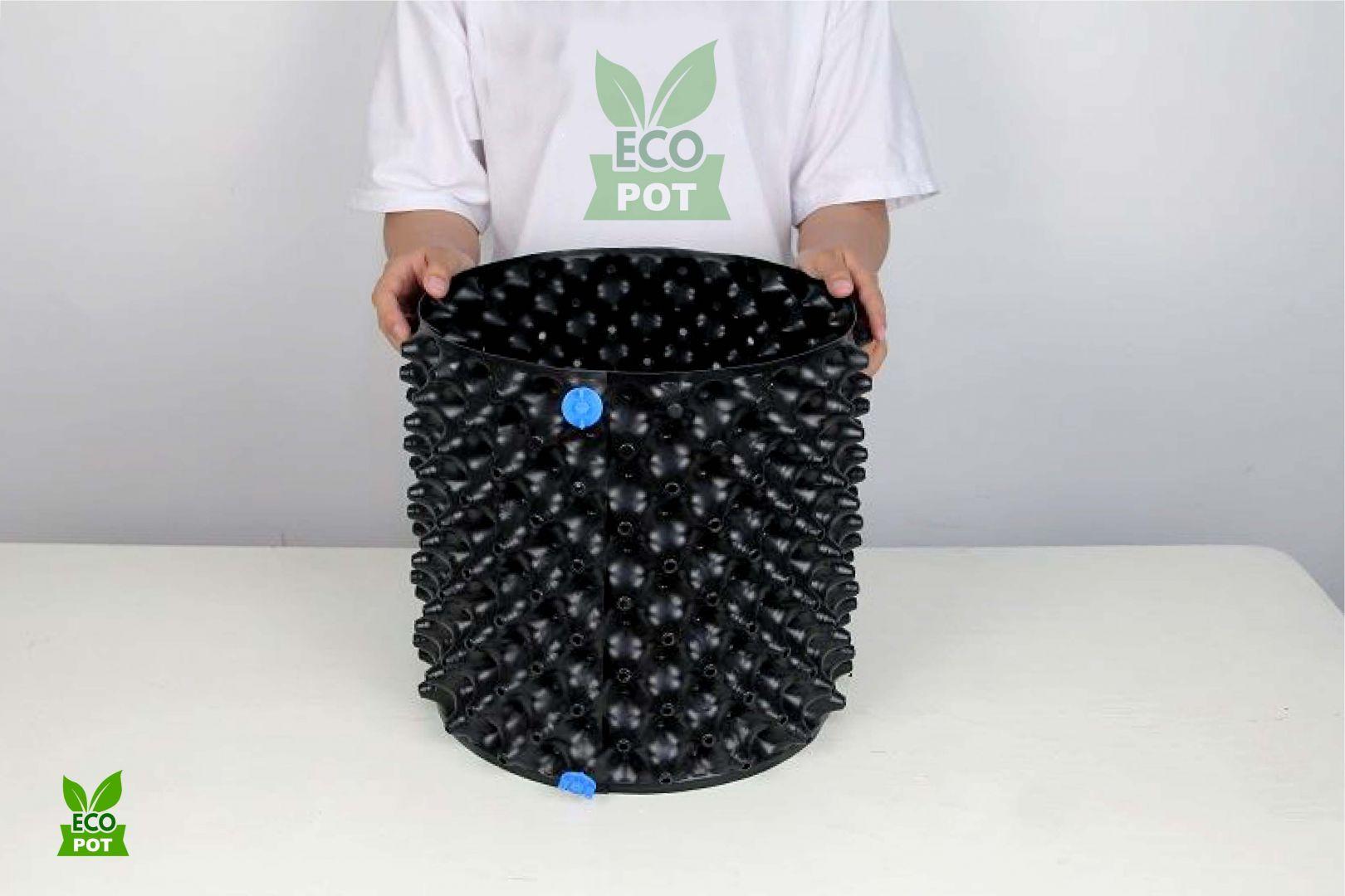 Bầu ươm Ecopot sau khi hoàn thành lắp đặt, dễ dàng và tiện lợi