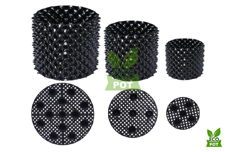 Bầu nhựa ươm cây Ecopot với thiết kế với các thoát nước đa chiều