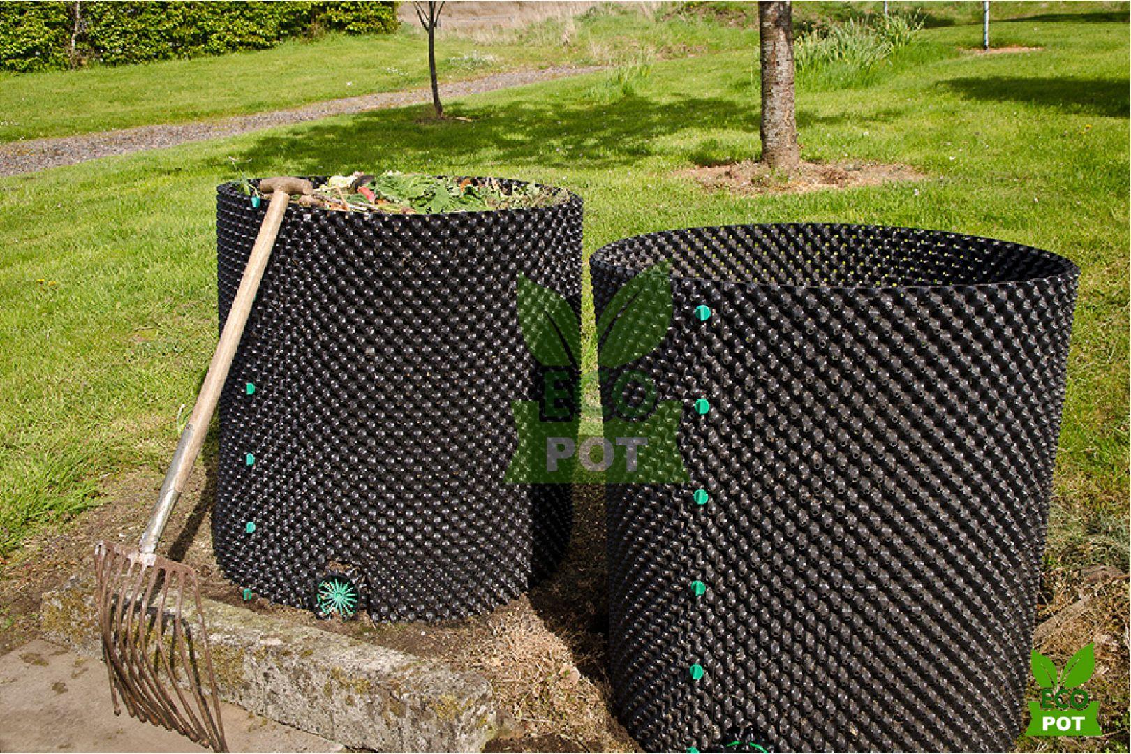 Bầu ươm Ecopot dùng để trồng cây ngoài ban công và sân thượng