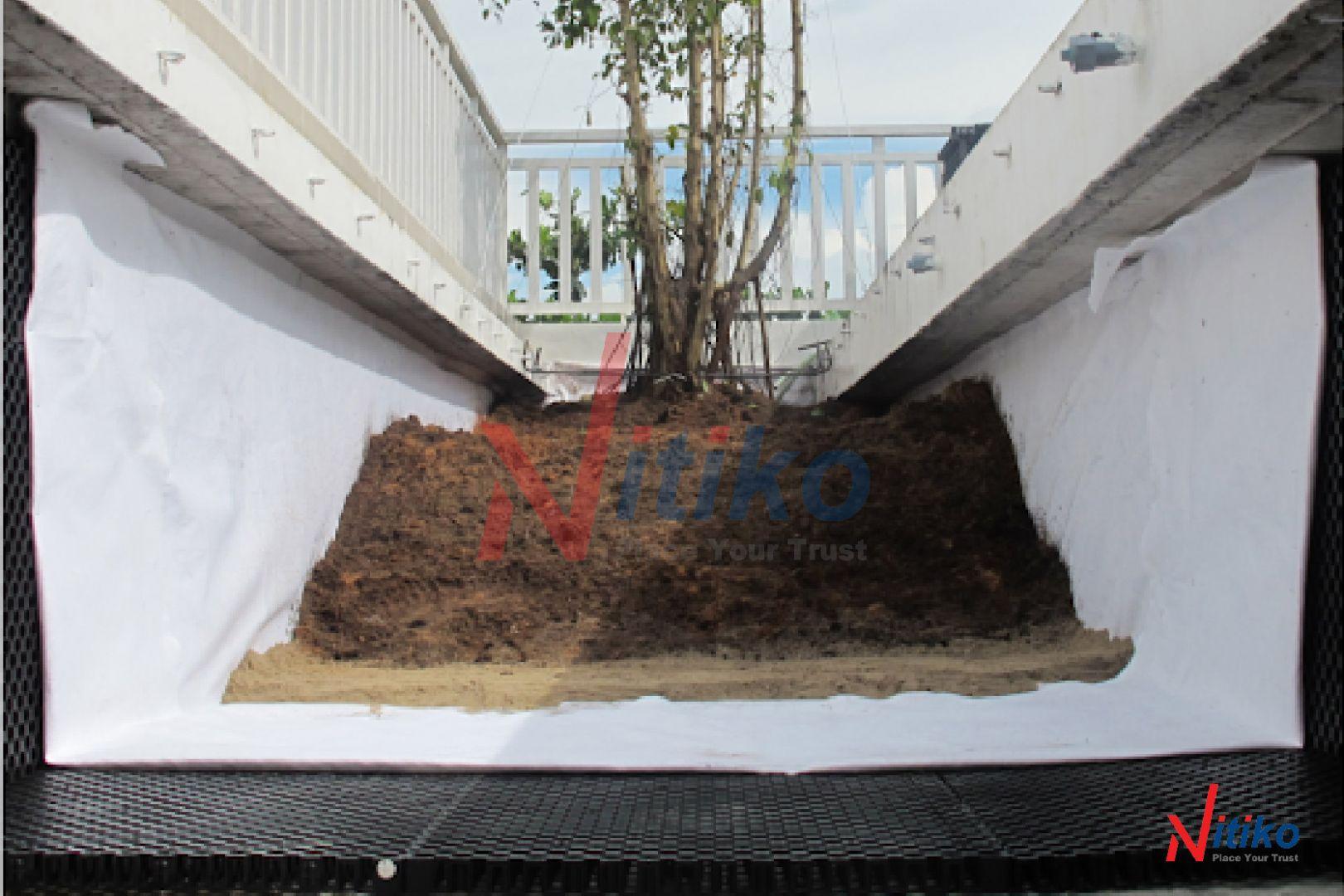 Vỉ thoát nước Necty hỗ trợ cho khả năng thoát nước vườn sân thượng
